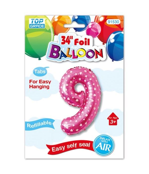 "26""pink foil balloon #9"