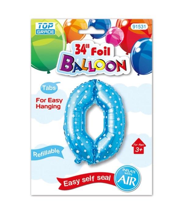 """26"""" blue foil balloon #0"""