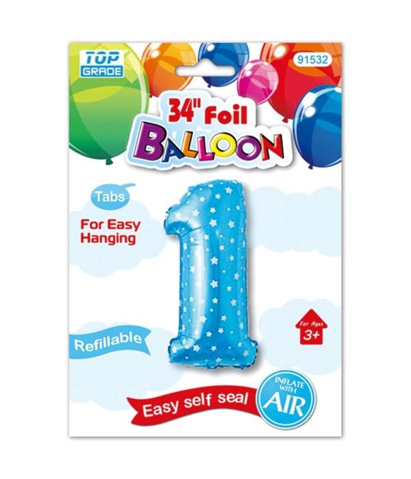 """26"""" blue foil balloon #1"""