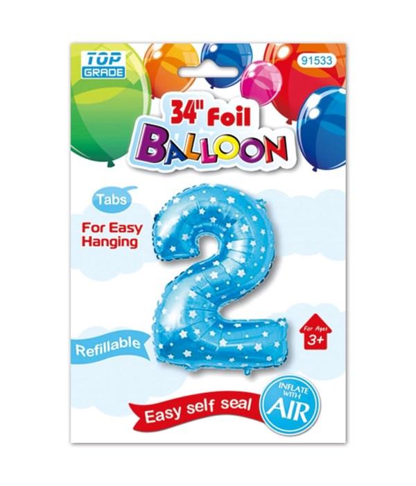 """26""""blue foil balloon #2"""