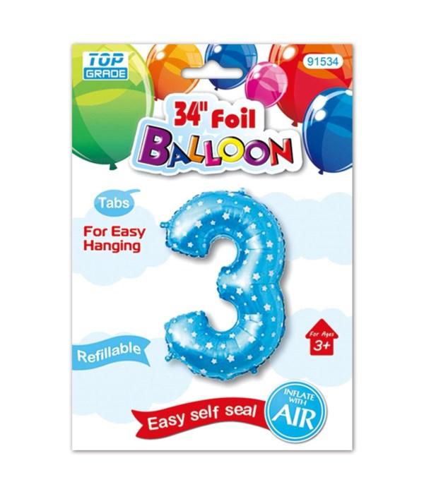 """26""""blue foil balloon #3"""