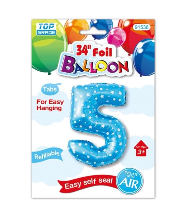 """26""""blue foil balloon #5"""