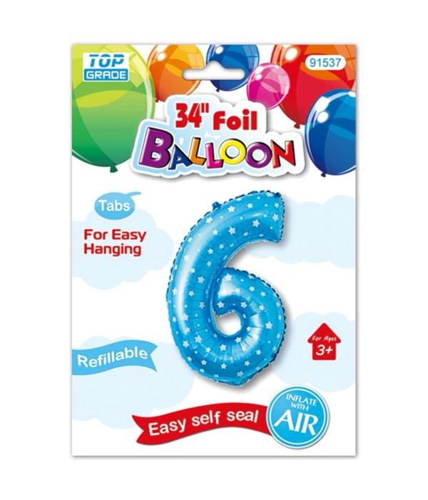 """26""""blue foil balloon #6"""