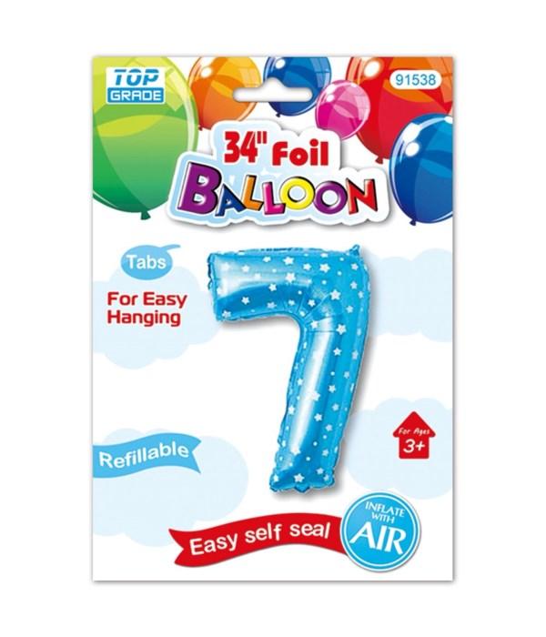 """26"""" blue foil balloon #7"""