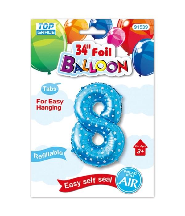 """26""""blue foil balloon #8"""