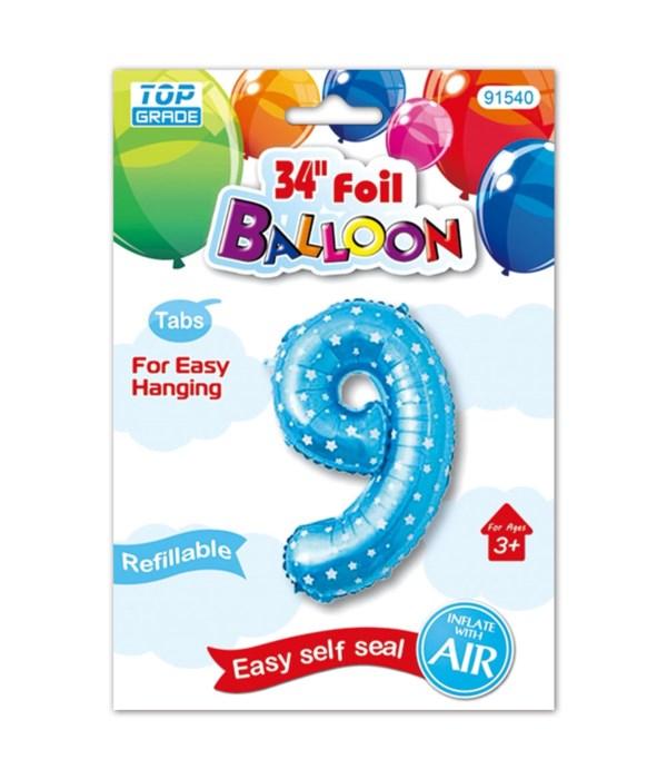 """26""""blue foil balloon #9"""