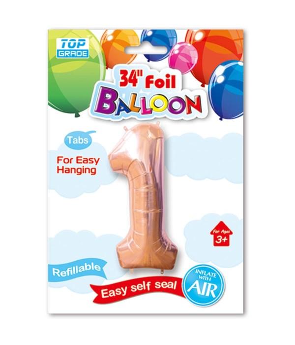 "26""rose gold foil balloon #1"