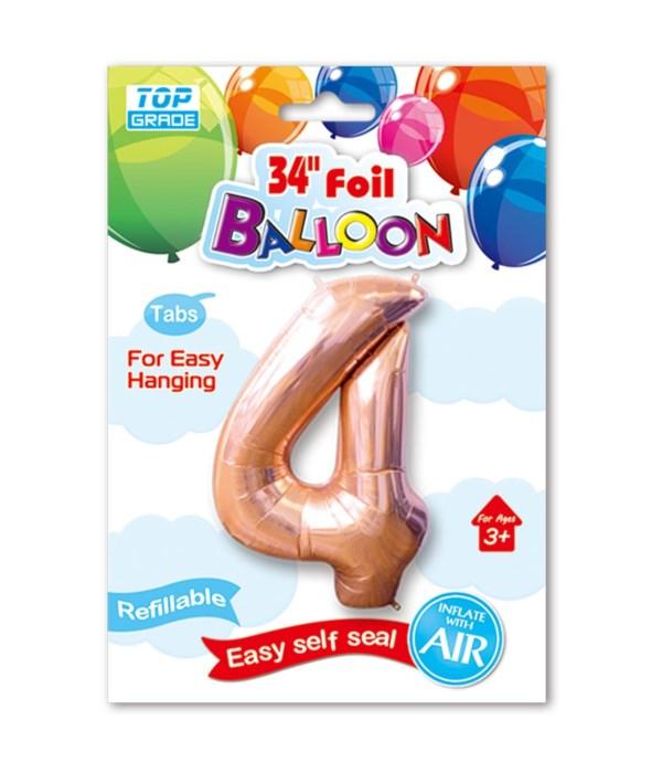 "26""rose gold foil balloon #4"