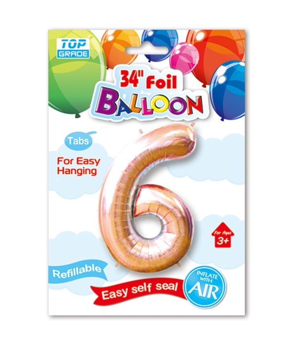 "26""rose gold foil balloon #6"