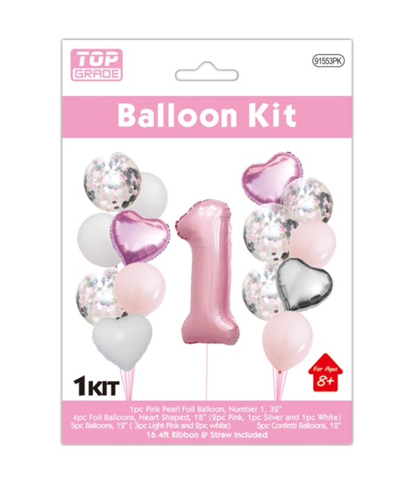 15pc NO.1 set pink 12/300s