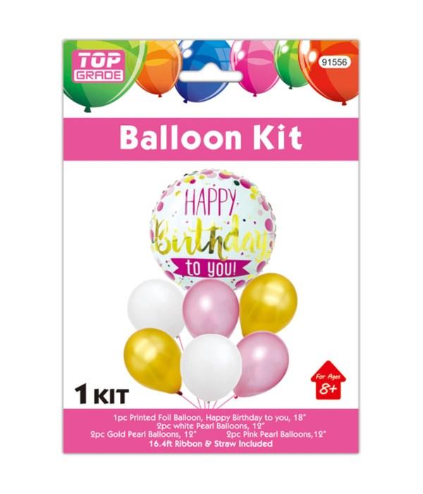 7pc balloon set b'day 12/300s
