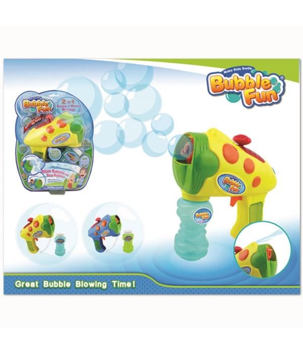 2 in 1 water/bubble gun 6/12s