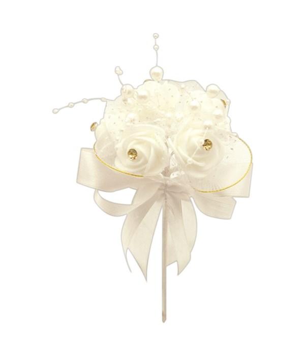 foam flower w/lace 12/240s