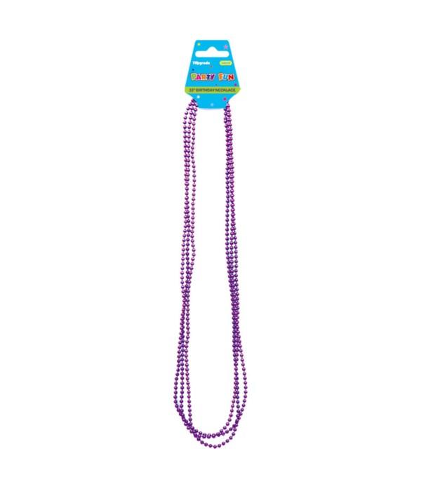 "33""/6ct necklace purple 12/288"