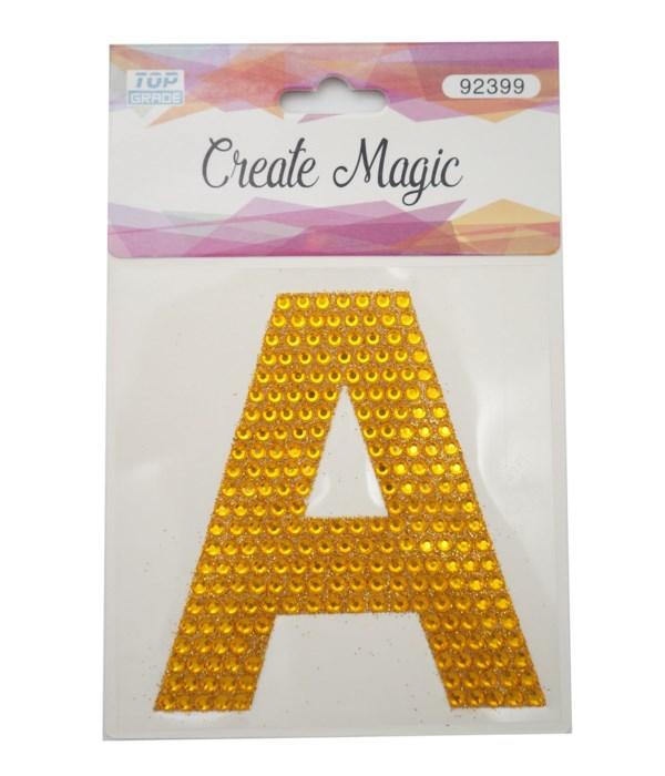 "crystal sticker ""A"" 12/1200s"