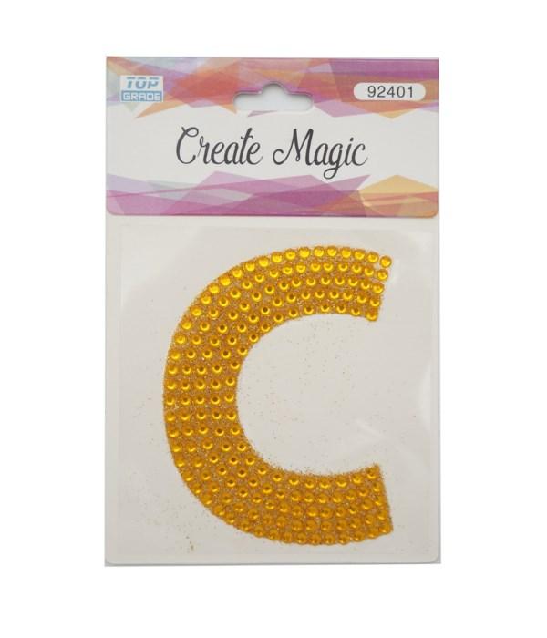 "crystal sticker ""C"" 12/1200s"