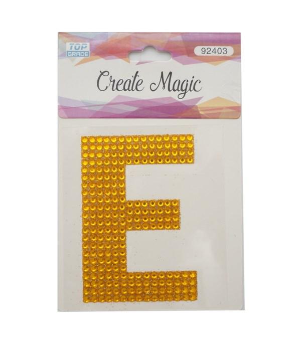 "crystal sticker ""E"" 12/1200s"