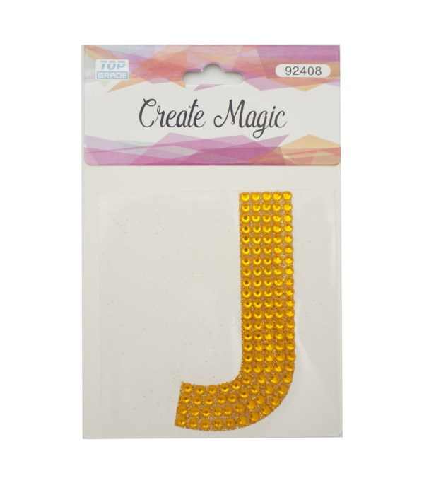 "crystal sticker ""J"" 12/1200s"