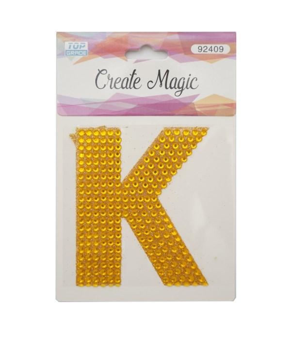 "crystal sticker ""K"" 12/1200s"
