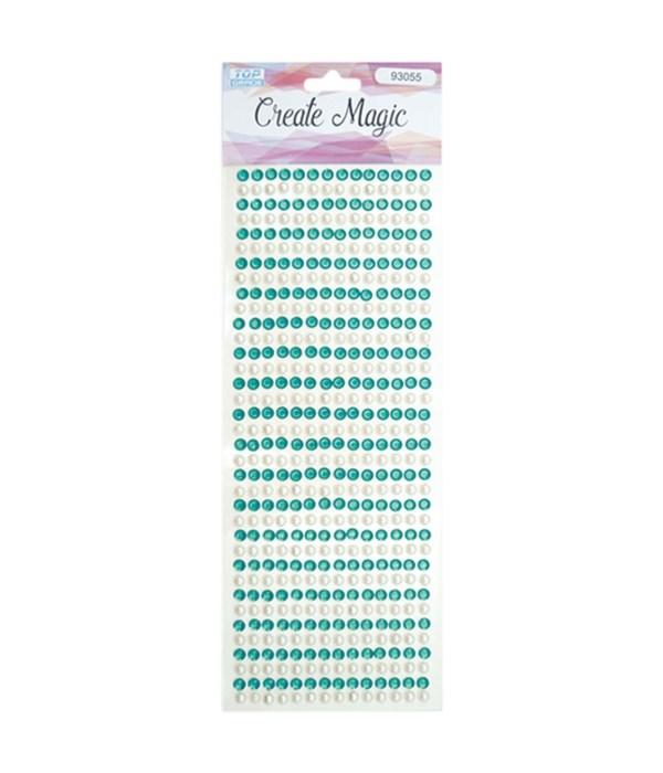 rhinestone stickers/green