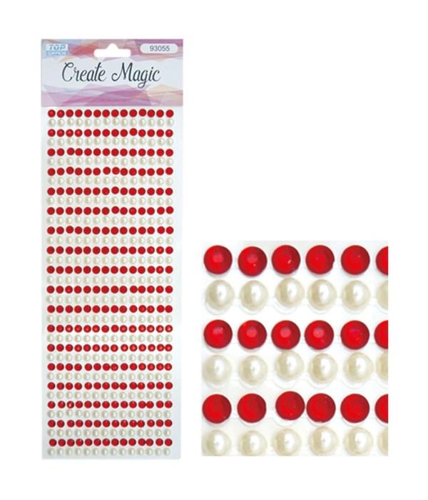 rhinestone stickers/red