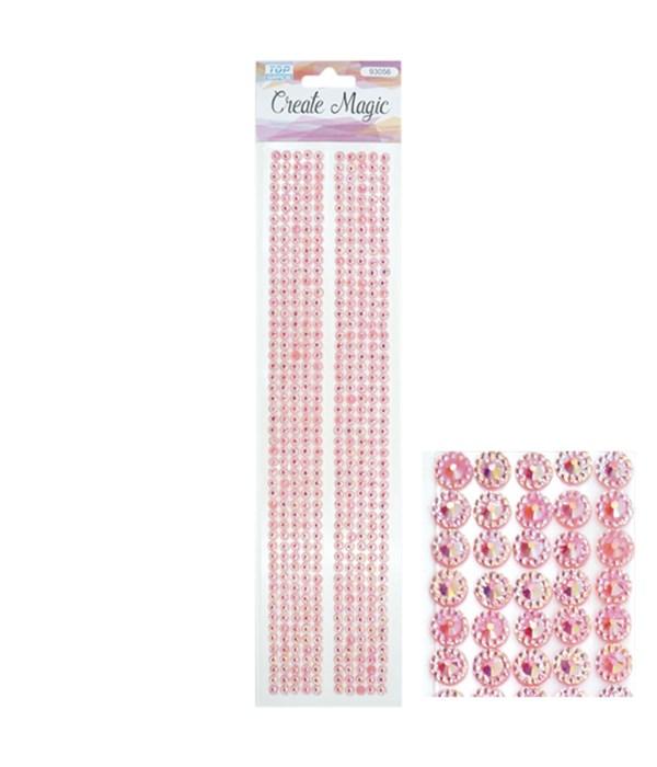 rhinestone stickers/pink