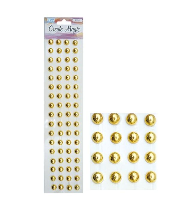 rhinestone stickers/gold