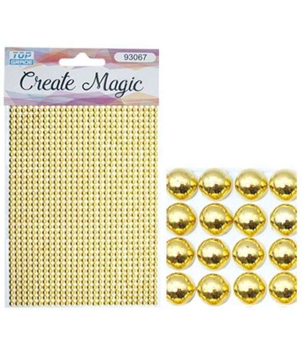 rhinestone sticker gold
