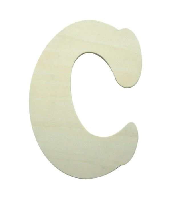 "7"" wooden Letter C 12/600s"