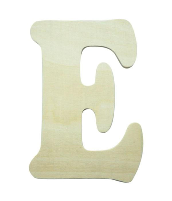 """7"""" wooden Letter E 12/600s"""
