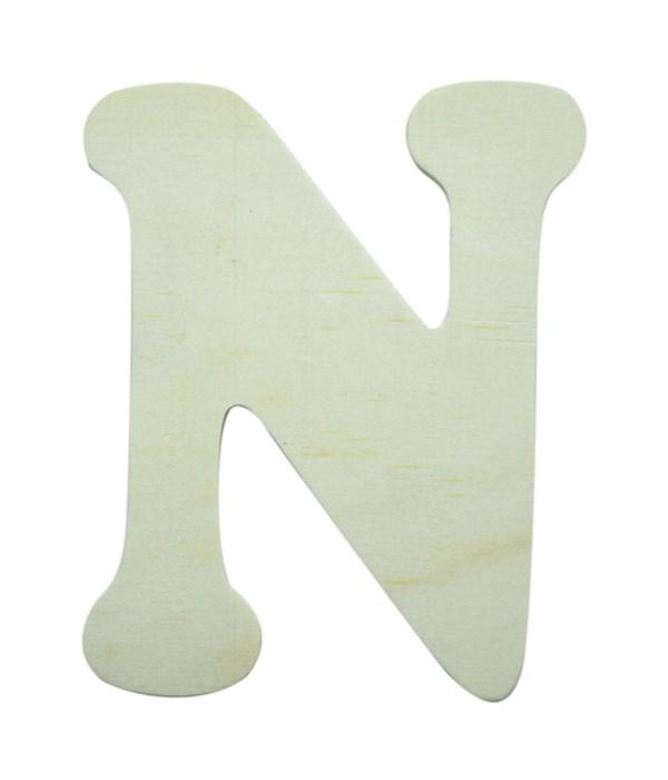 "7"" wooden Letter N 12/60s"