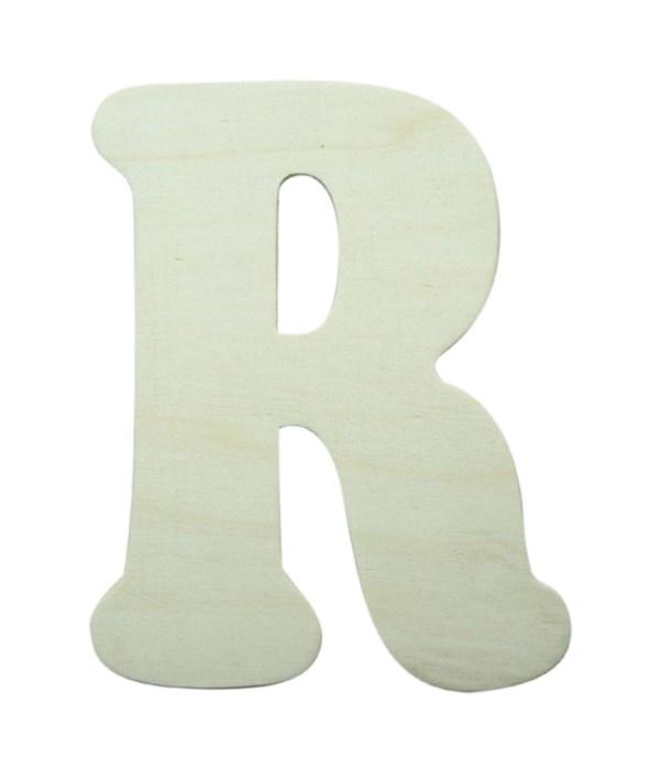"7"" wooden Letter R 12/60s"