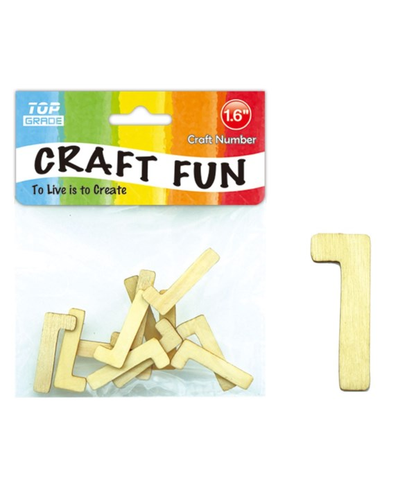 "wooden craft number ""1"""