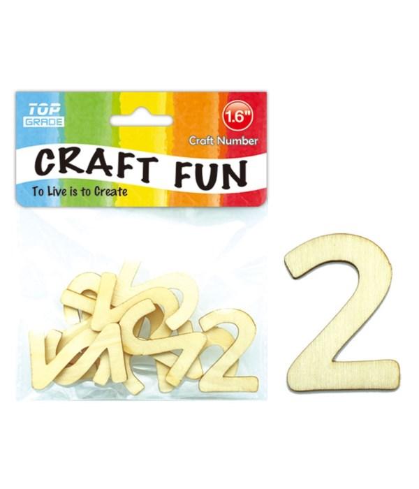 "wooden craft number ""2"""
