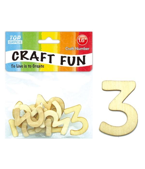 "wooden craft number ""3"""