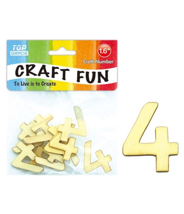 "wooden craft number ""4"""