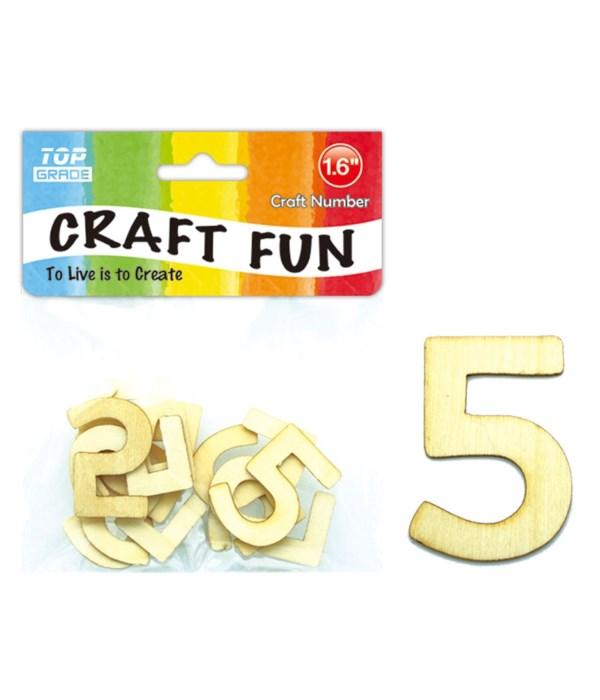 "wooden craft number ""5"""