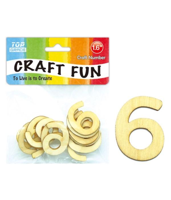 "wooden craft number ""6"""