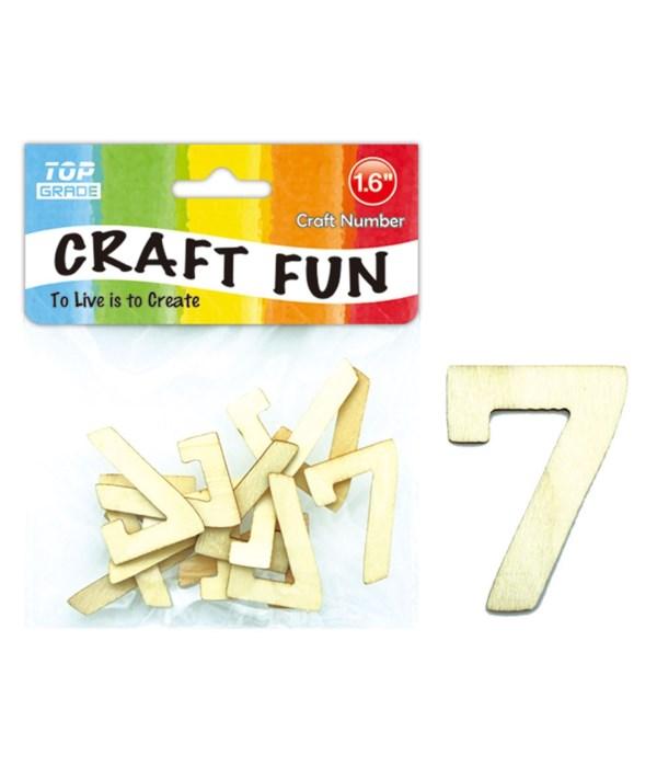 "wooden craft number ""7"""
