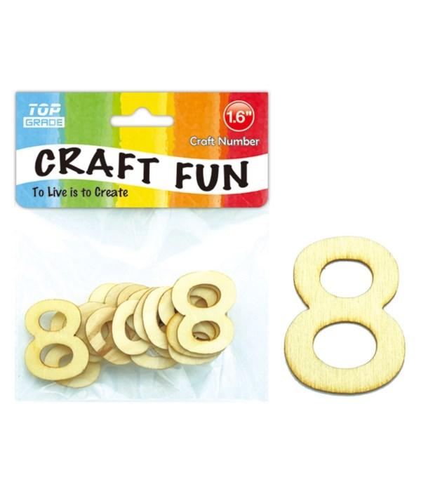 "wooden craft number ""8"""