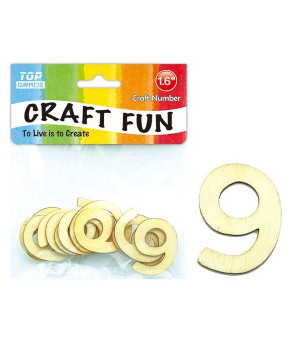 "wooden craft number ""9"""