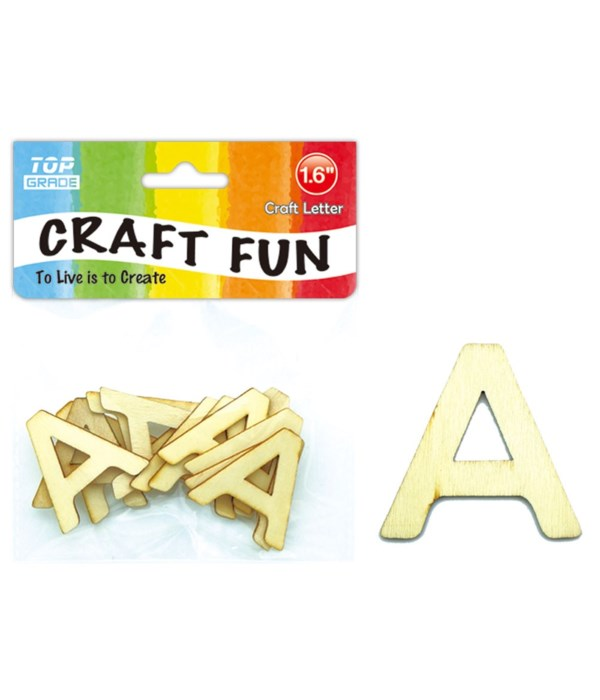 """wooden craft letter """"A"""""""