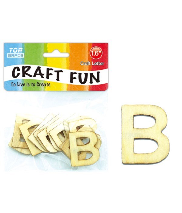 """wooden craft letter """"B"""""""