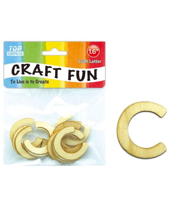 "wooden craft letter ""C"""