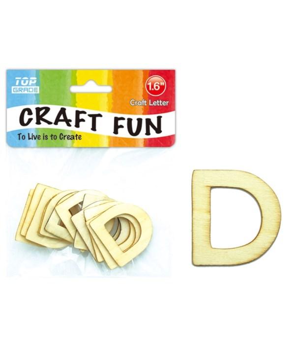 "wooden craft letter ""D"""