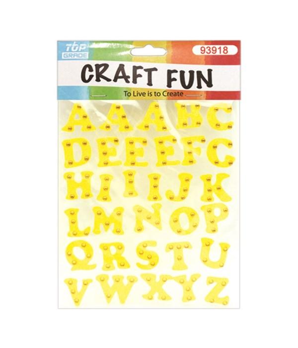 eva letter yellow 12/144s