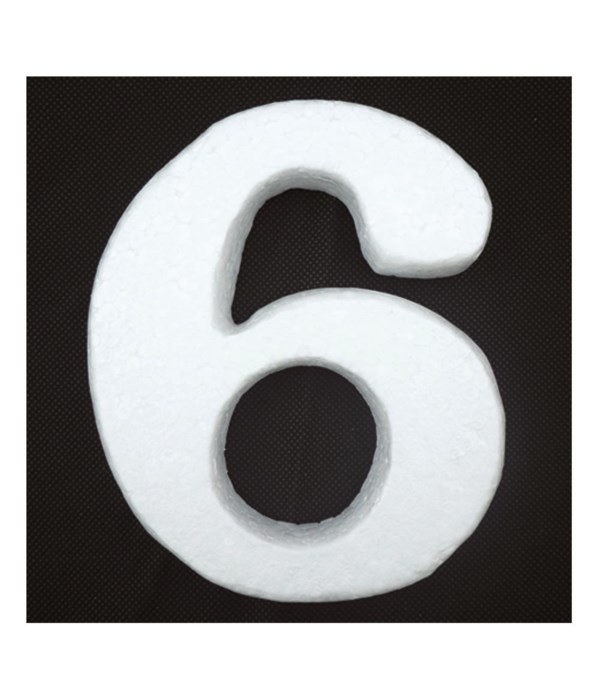 "6"" foam number 6 6/120's"