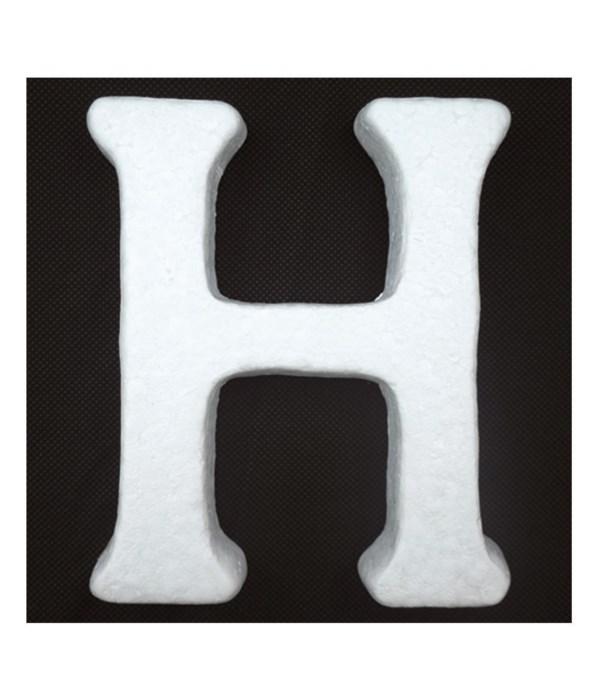 """6"""" foam letter H 6/120's"""
