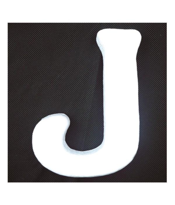 """6"""" foam letter J 6/120's"""