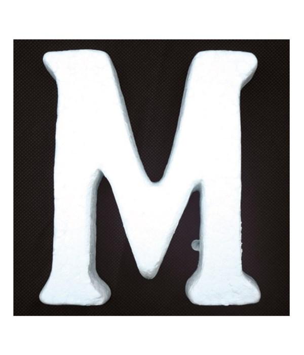 """6"""" foam letter M 6/120s"""